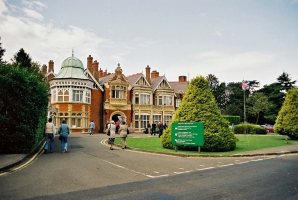 Bletchley Park, Britain's wartime codebreaking center.