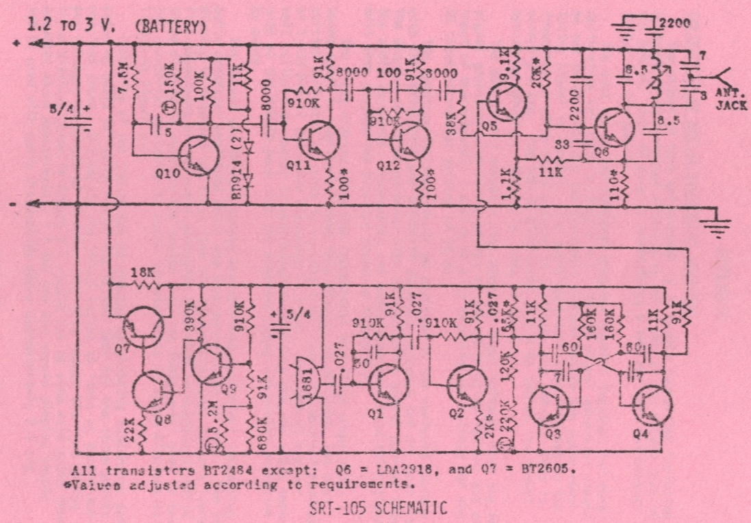 Srt 105 Electret Mic Preamp Circuit The Bottom Half Of Diagram Comprises Knowles Bl 1681 Microphone At Center A Two Stage Audio Amplifier Q1 And Q2 40