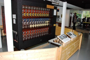 Working Bombe replica at Bletchley Park Museum