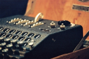 The Abwehr Enigma G-312, now in the collection of Bletchley Park.