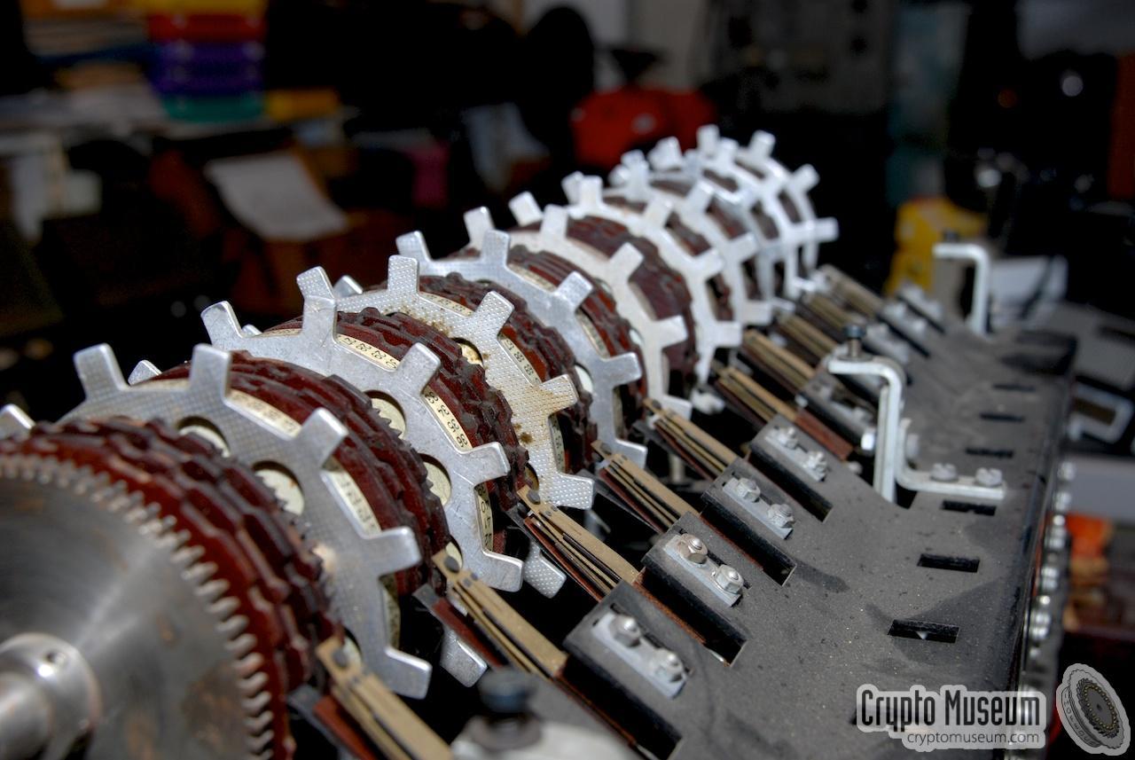 T 52 Geheimschreiber Close Up Of The 10 Cipher Wheels