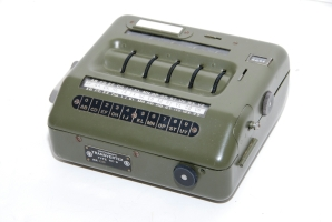 The Transvertex HC-9, a portable cipher machine developed in Sweden by Vigo Lindstein, a former Hagelin employee.