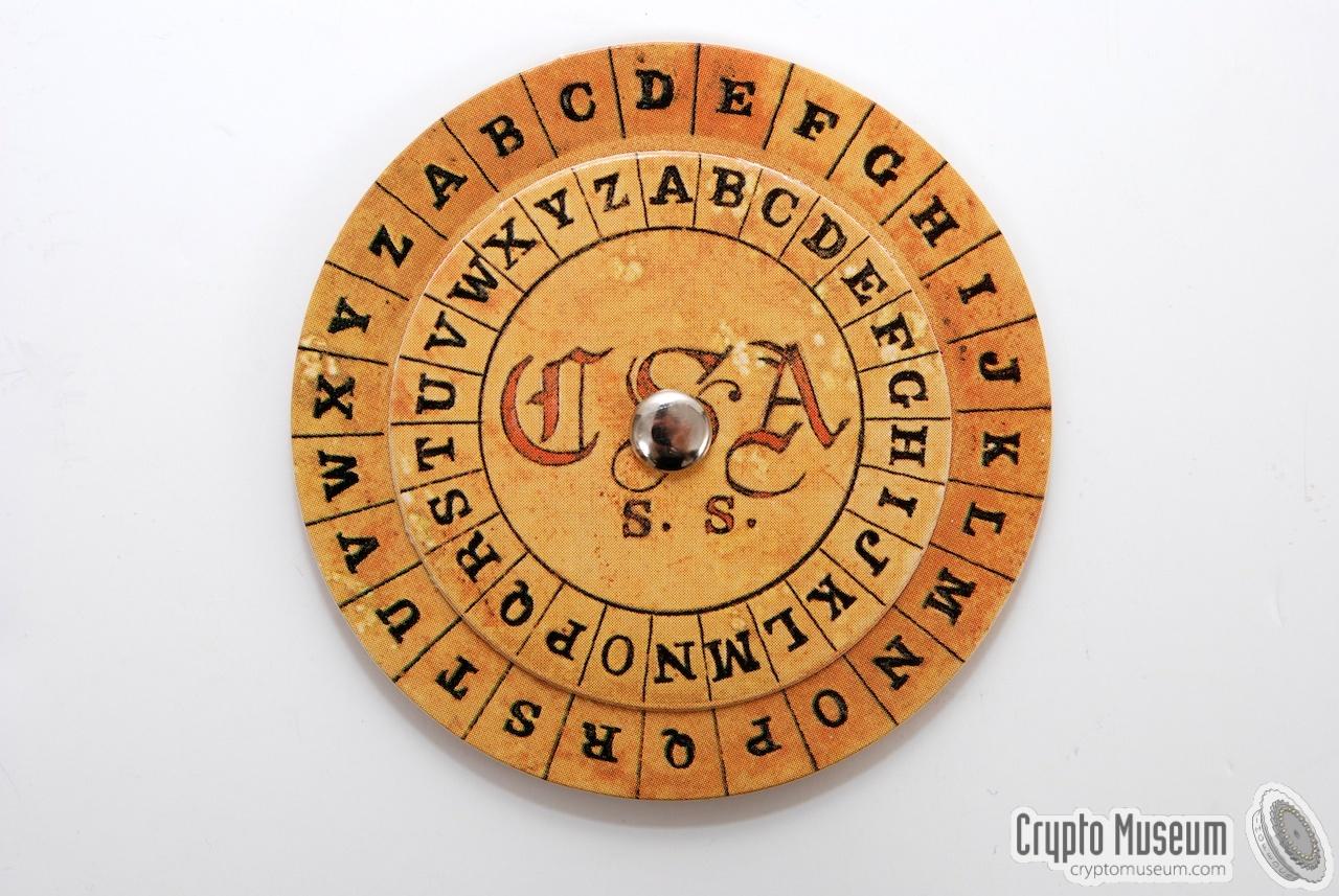 photograph regarding Cipher Wheel Printable titled Confederate Cipher Disc