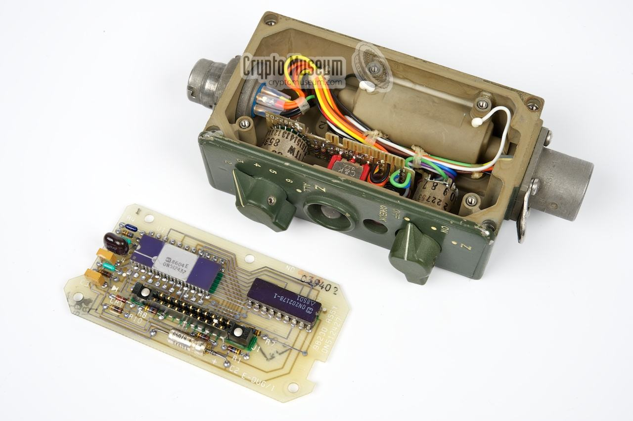 The main PCB removed from the KYK-13