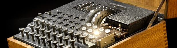 Artistic image of a commercial Enigma machine by Mark Kohn (2013)