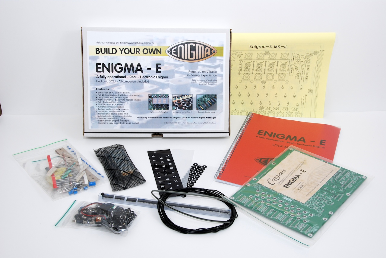 Enigma E This Excellent Simulator Includes All Components And Electronic Another View Of The Contents Kit