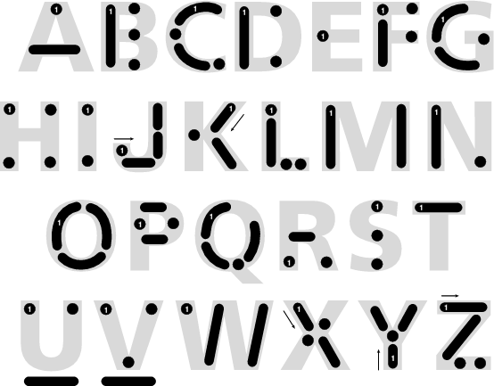 Visual Symbolic Representation Of The Morse Code Alphabet. Click To  Download As PDF File.