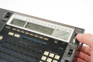 Sony ICF-2001D, a commercialy available short-wave receiver that was popular with international spies and agents.
