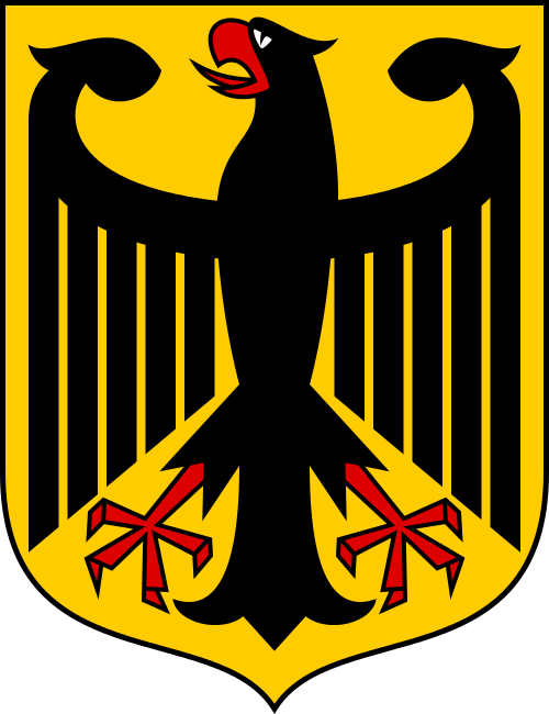 Current German Coat of Arms. Image via Wikipedia [1].
