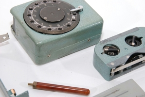 Russian burst encoder using during the Cold War. Click for more information about burst encoders.